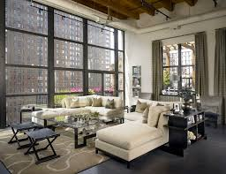 jamesthomas llc inspiration for an expansive industrial living room remodel in chicago with white walls bedroom furniture image13
