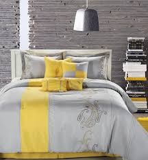 marvelous grey bedroom colors: gray and yellow bedroom decor or grey profiles can then be added to the wall this