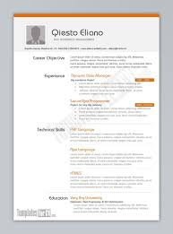 doc resume template one page ersum able 11131500 resume template one page ersum able templates word