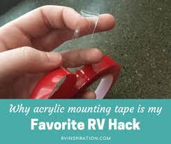 Unexpected RV Hack: Acrylic Mounting <b>Tape</b> | RV Inspiration