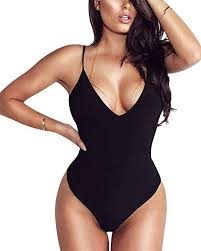 Linmon Women's Spaghetti Strap Bodysuit Tops Sexy ... - Amazon.com