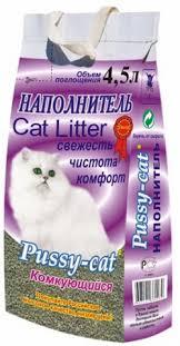 <b>Пусси Кэт комкующийся</b> наполнитель для кошачьего туалета ...