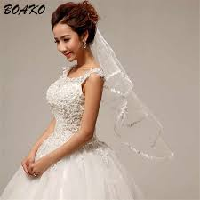 <b>BOAKO Two Layers Short</b> Wedding Veils with Comb Cheap 2019 ...