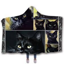<b>SOFTBATFY</b> Cat Hooded Blanket Fleece Throw Blanket Dropshipping