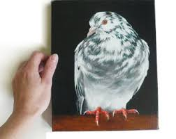 large image shaker painted pigeon