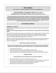 samples quantum tech resumes cio sample resume nick charles