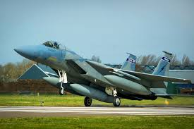 u s department of defense photo essay a u s air force f 15c eagle aircraft lands at leeuwarden air base in the