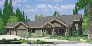 Great Room House Plans and Designs for Ideas and Floor Plans Large Ranch House Plan featuring Gable Roofs
