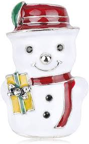 KUKALE Brooch - <b>Christmas Snowman Shape</b> Jewelry Pin for Party ...