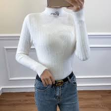 Fuzzy Sweater for Women Mohair Sweaters <b>Pullover Sweater 2020</b> ...
