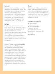 nanny responsibilities on resume        resume and templates    nanny resume job description