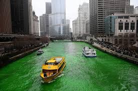 Resultado de imagen de saint patrick's day chicago green river