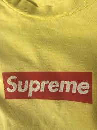 <b>Supreme Supreme Red</b> On <b>Yellow</b> Box Logo | Grailed