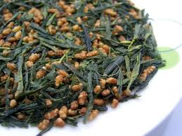 100g /bags <b>Organic Genmaicha</b>, Premium <b>Brown</b> Rice Green Tea ...