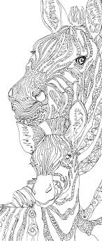 Small Picture Zebra Clip Art Coloring pages Printable Adult Coloring book Hand