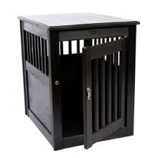 this furniture style pet crate offers pet owners a quality handcrafted alternative to unsightly wire furniture style dog crates