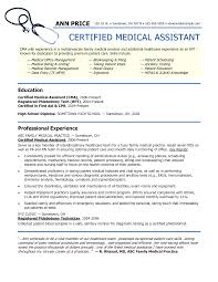 examples of medical assistant resumes template examples of medical assistant resumes