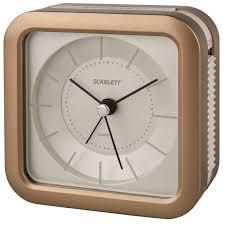 """<b>Будильник</b> """"Scarlett"""", с подсветкой, цвет: коричневый, <b>9</b>,<b>4 х 9</b>,<b>4 см</b> ..."""
