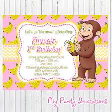 curious george birthday invitations birthday party invitations curious george birthday invitations printable