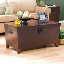trunk style coffee table cocktail storage lift top wood furniture chest rustic chest coffee table multifunction furniture