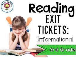 informational reading exit tickets rd grade create abilities informational reading exit tickets 3rd grade