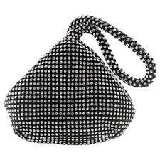 Wocharm New <b>Bridesmaid</b> Crystal Silver Diamante Evening bag ...
