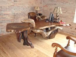 rustic desk custom black walnut wood slab rustic executive awesome custom reclaimed wood office desk