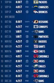 seahawks schedule