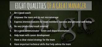 qualities of a great manager via google saddington