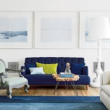 blue and chartreuse living room beach house living room tropical family room