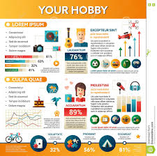 your hobby poster brochure cover template stock vector image your hobby poster brochure cover template