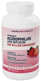 American Health - <b>Acidophilus Chewable</b> With <b>Bifidus</b> Natural ...