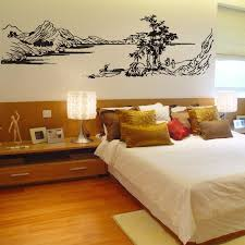 chinese style decor: free shipping chinese style painting mountain river tree wall stickers glass decals coving home decor decoration