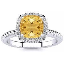 Alyssa <b>Yellow Citrine</b> Ring