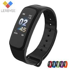 Lerbyee C1Plus <b>Smart Bracelet</b> Color Screen Blood Pressure ...