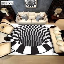 <b>3d</b> print carpet Luxury carpet <b>floor mat</b> rug White Black <b>Abstract</b> ...