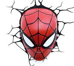 <b>Marvel Spiderman</b> Mask <b>3D</b> LED Light: Amazon.co.uk: Kitchen ...
