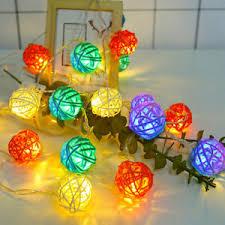<b>Creative</b> Rattan <b>Strings Light Lamp</b> 5m 20 <b>LED String</b> Garland Fairy ...