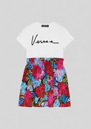 Young Versace Платье-<b>футболка с принтом Tie</b>-Dye Roses Kids ...