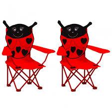 vidaXL Kids' <b>Garden Chairs 2 pcs</b> Red Fabric