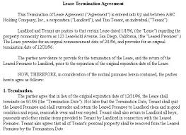 early termination of lease agreement letter sample south africa early lease termination letter template