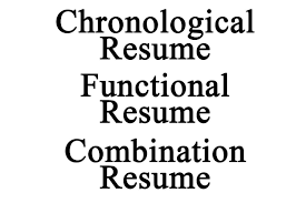 resume types chronological functional combination top resume examples listed by style