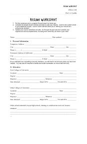resume worksheet rupsucks printables worksheets fill in the blank resume worksheet form online printable pdf
