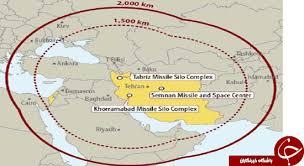 Image result for نقشه برد موثر موشکهای ایرانی