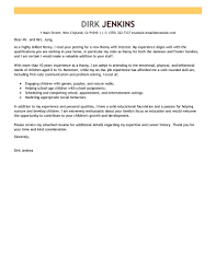 leading professional nanny cover letter examples  amp  resources    nanny resume example