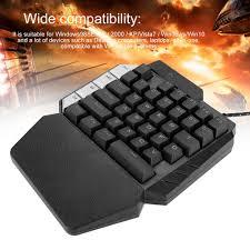 <b>K109</b> Single Hand <b>Mechanical Keyboard</b> Gaming Supplies 38 Keys ...