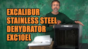 Excalibur Stainless Steel <b>Food Dehydrator EXC10EL</b> - YouTube