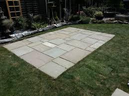 stone patio installation: handy andy ruskington