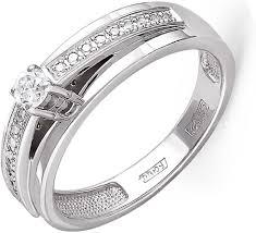 <b>Кольцо с 19 бриллиантами</b> из белого золота, классика (18+1 ...