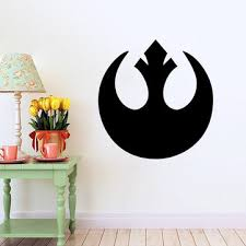 w-1 <b>star wars wall stickers</b> removable - black at Banggood